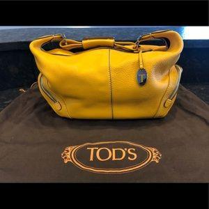 Tod's Hobo Style Saffron Yellow Shoulder Bag